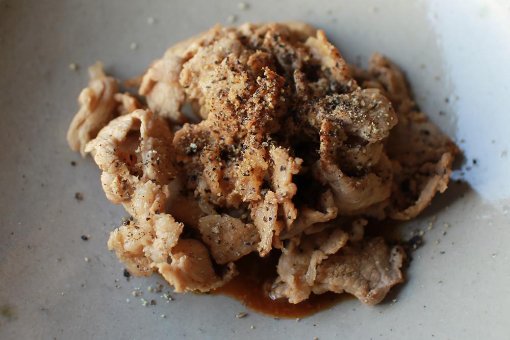 豚肉のポン酢炒め